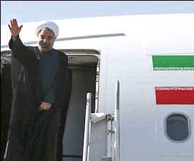 روحانی برای شرکت در مراسم انتقال پیکر حجاج،نیویورک را ترک میکند