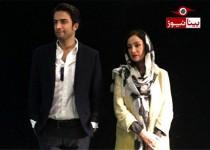 بنیامین بهادری با همسر جدیدش بهاره افشاری در آخرین قسمت خندوانه