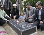 عطرافشانی و غبارروبی مزار شهدا به مناسبت هفته ناجا در ماکو/تصاویر