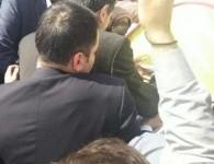 مقابله پلیس با بقایای تجمع مقابلمجلس