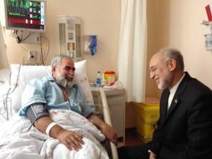 علی اكبر صالحی از حسینیان عیادت کرد/تصاویر
