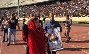 مراسم تشییع پیکر هادی نوروزی در استادیوم آزادی/تصاویر