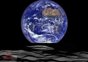 اگر ساکن ماه بودیم طلوع زمین اینگونه بود +عکس واقعی