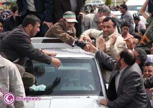 گزارش تصويري استقبال مردم آذربايجان غربي از رييس جمهور