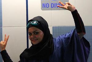 الهام السادات اصغری:رکورد زدم اما به لباسم گیر داده اند!+عكس