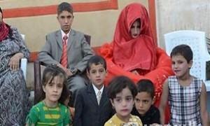 ازدواج اجباری پسر 14 ساله عراقی + عکس