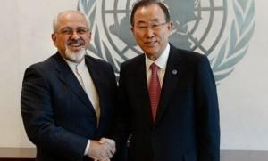 پایان رایزنیهای ظریف در نیویورک/ وزیر خارجه سه بار با بانکیمون دیدار کرد
