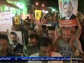 """مرسی: پایان """"کودتا"""" و پیروزی """"حق بر باطل"""" نزدیک است"""