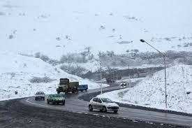 جادههای 13 استان کشور برفی و بارانی است