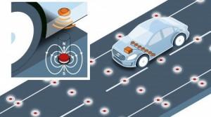 حفظ خودروهای خودران در جادهها با آهنربا