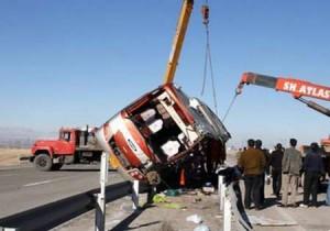 واژگونی اتوبوس زائران ایرانی در عراق 26 مجروح بر جای گذاشت