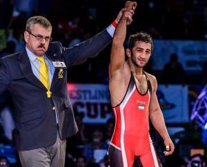 سید احمد محمدی اولین طلایی کشتی ایران در مسابقات قهرمانی آسیا