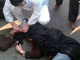 سقوط یک دختر از پلی در خیابان سبلان