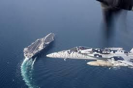 سقوط جنگنده آمریکایی در خلیج فارس