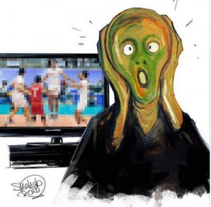 سانسور والیبال در تلویزیون!/کاریکاتور