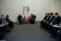 دیدار دکتر روحانی با نخست وزیر هندوستان