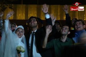 عروسی در بین کارتن خوابهای تهران