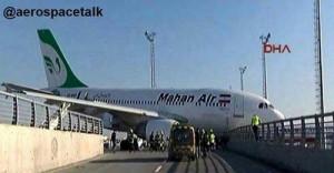 سانحه برای هواپیمای ایرانی در فرودگاه بین المللی استانبول